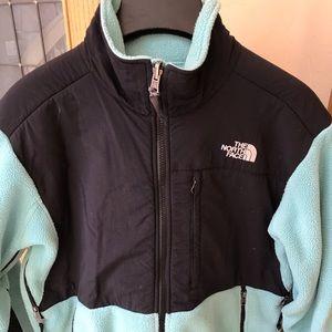 North Face Fleece size L, mint & black